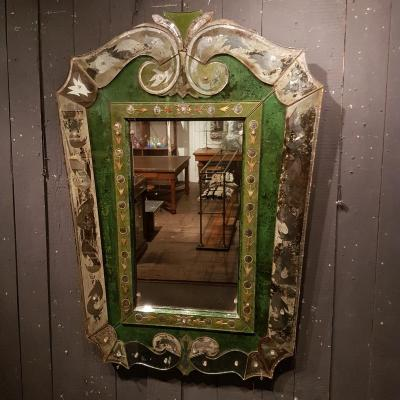 Miroir 1940 églomisé