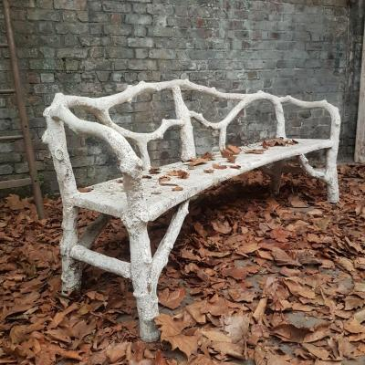 1900 Faux Wood Garden Bench