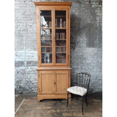 19th Century Pine Bookcase With 4 Openings In Tbe