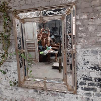 Miroir de Venise vers 1940 taille XL