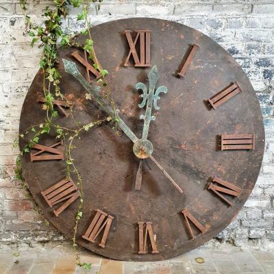 Cadran d horloge en métal