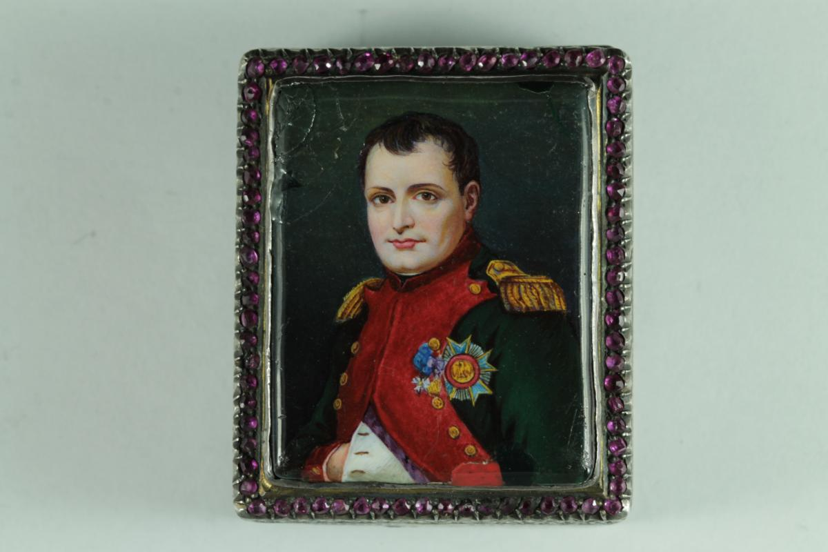 Antique Napoleon Enamel Snuff Box