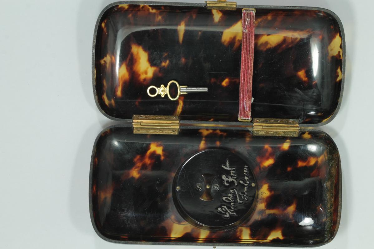 Porte Cigarettes Montre Ancienne Ecaille Piquè-photo-1