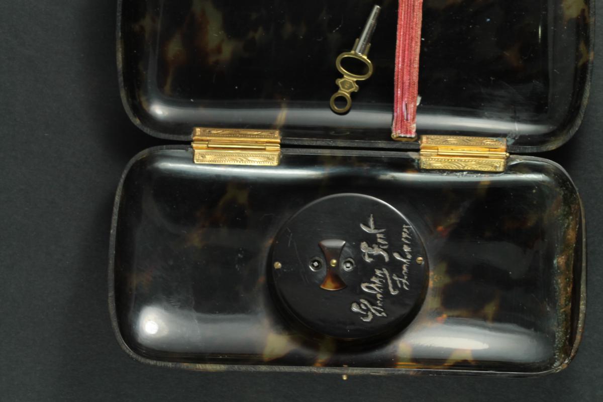 Porte Cigarettes Montre Ancienne Ecaille Piquè-photo-2