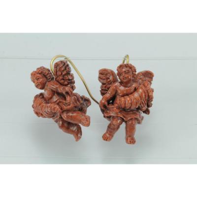 Boucles d'Oreilles Anciennes Or Lave
