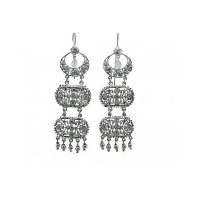 Vintage Gold Diamonds Gold Earrings
