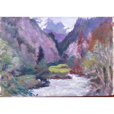 Ruisseau de montagne Paysage Par Max Pechstein