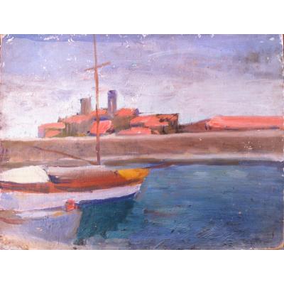 Albert  Marquet   Barques à Quai