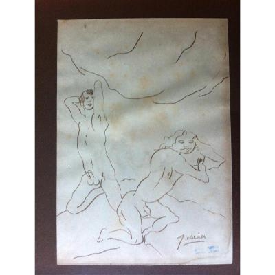 PASCIN  scène de nus masculins
