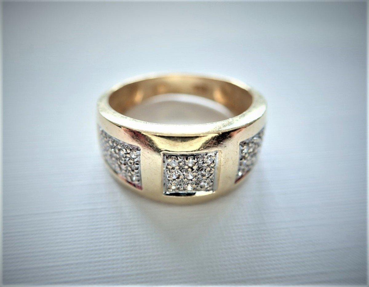 Bague Jonc  Diamants Or 18 Carats