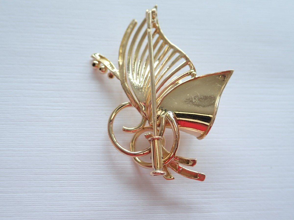 Art Deco Brooch Brin De Muget 18k Gold-photo-2