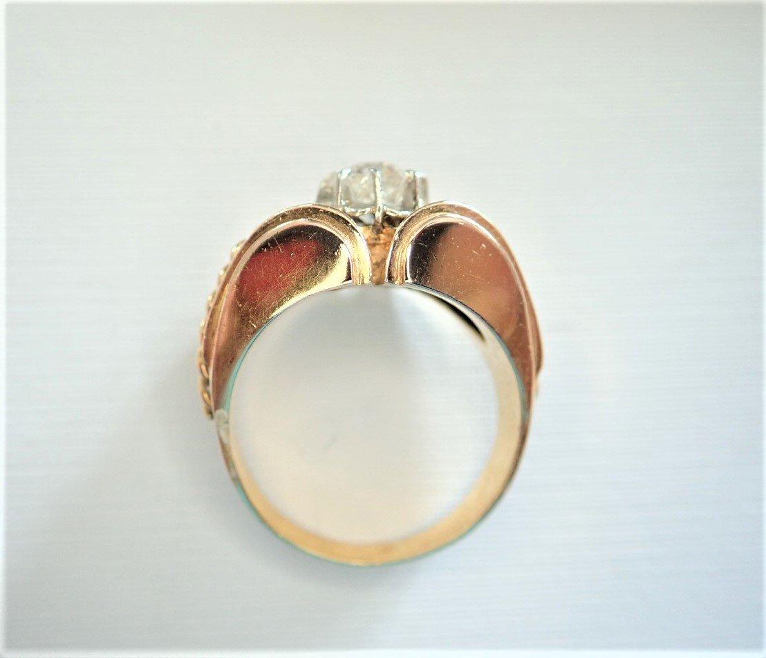 Art Déco Bague Diamant Or 18 Carats-photo-1