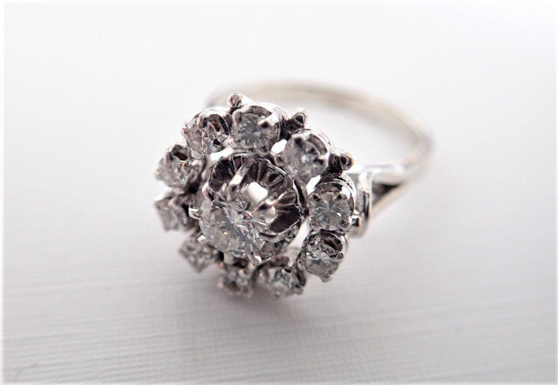 Bague Marguerite Diamants Or Blanc  18 Carats-photo-2