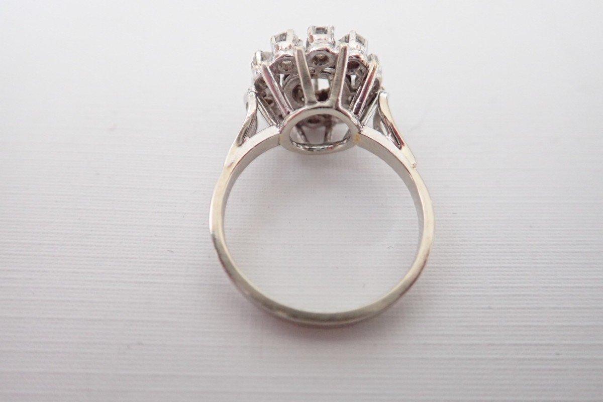 Bague Marguerite Diamants Or Blanc  18 Carats-photo-3