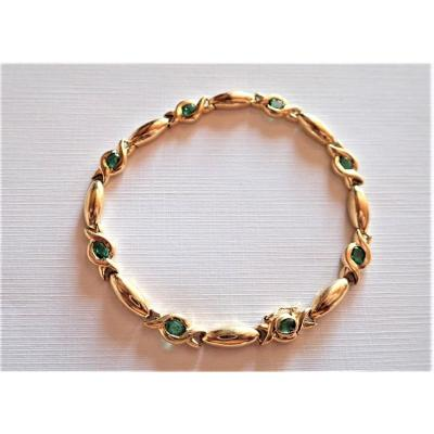Gold And Emerald Bracelet