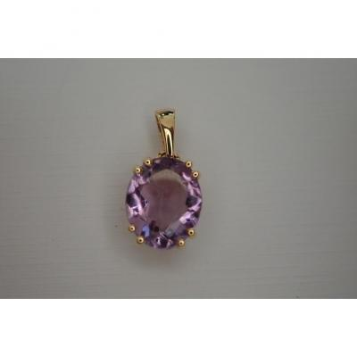 18k Gold And Amethyst Pendant