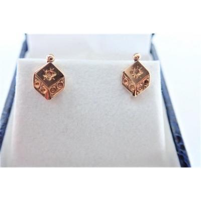 Pair Of Napoleon III 18k Gold Stud Earrings