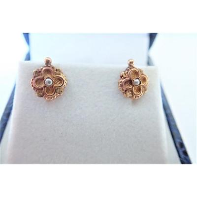 Pair Of Napoleon III 18k Gold Dormeuse Earrings