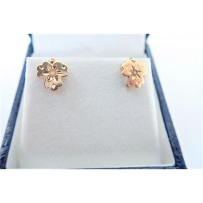 Pair Of Napoleon III 18k Gold Earrings