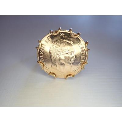 Bague Or 18 Carats Pièce 10 Francs Napoléon