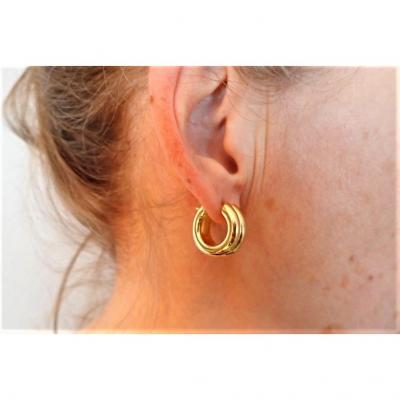 Vintage Pair Of 18k Gold Earring