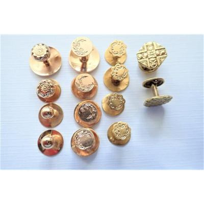 Pairs Of Buttons Of Collars And Plastrons 18k Gold Late Nineteenth