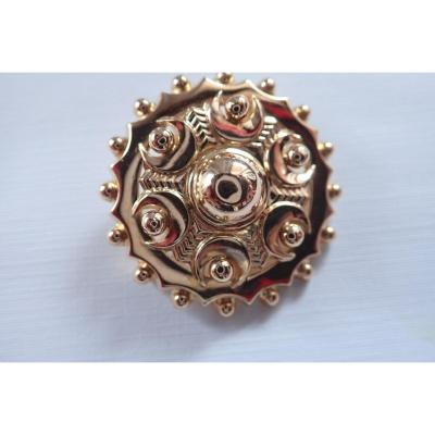 Art Déco Broche Or Rose 18 Carats