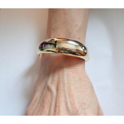 18k Gold Opening Bangle Bracelet