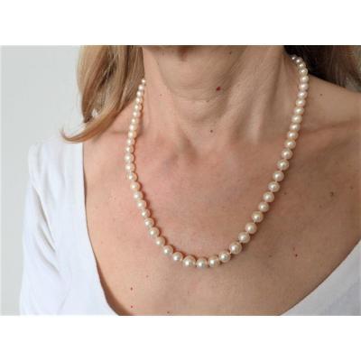 Colliers Perles Fermoir Or 18 Carats Rubis Et Diamants