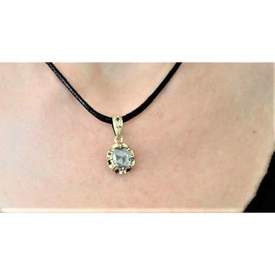 Napoleon III 18k Gold Diamond Pendant
