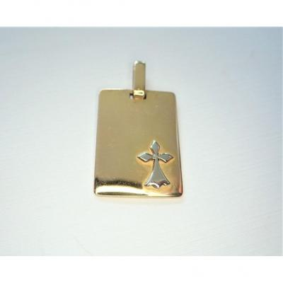 18k Gold Pendant Decorated With The Ermine Sign