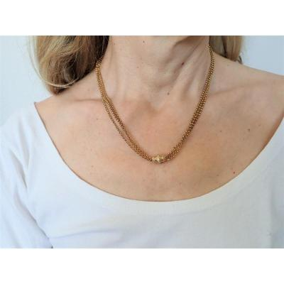 Late XIXth 18k Rose Gold Necklace