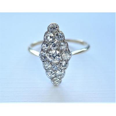 18k Gold Diamond Marquise Ring