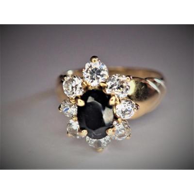 Vintage 18k Gold Marguerite Ring