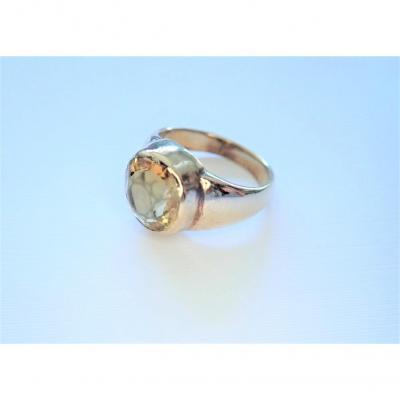 Vintage 14k Yellow Gold Stone Signet Ring