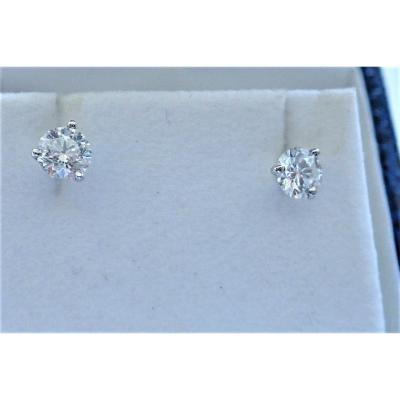 Pair Of 18k White Gold Diamond Studs