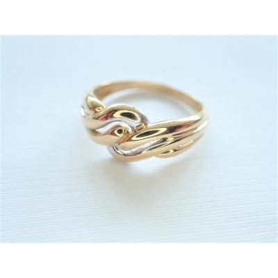 Vintage 3 Gold Braided Godrons Ring