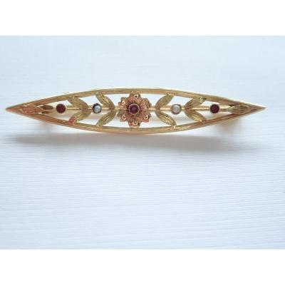 Brooch Circa 1900 18k Gold