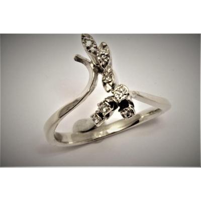Vintage White Gold Diamond Ring