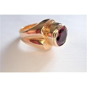 Vintage 18k Gold Asymmetric Ring