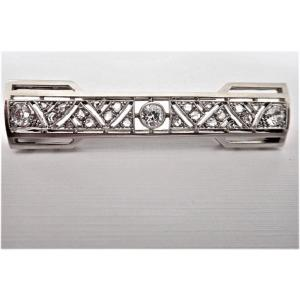 Art Deco Gold And Platinum Diamond Brooch