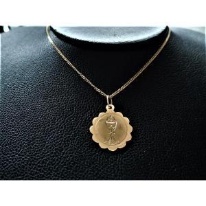 Naploleon III  Médaille motif calice Or Rose 18 Carats