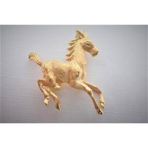 18k Gold Horse Motif Brooch