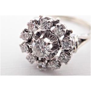 Marguerite Diamond Ring 18k White Gold