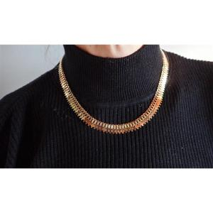 Art Deco Articulated Mesh Necklace 18k Rose Gold
