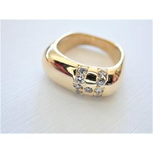 Vintage 18k Gold Diamond Bangle
