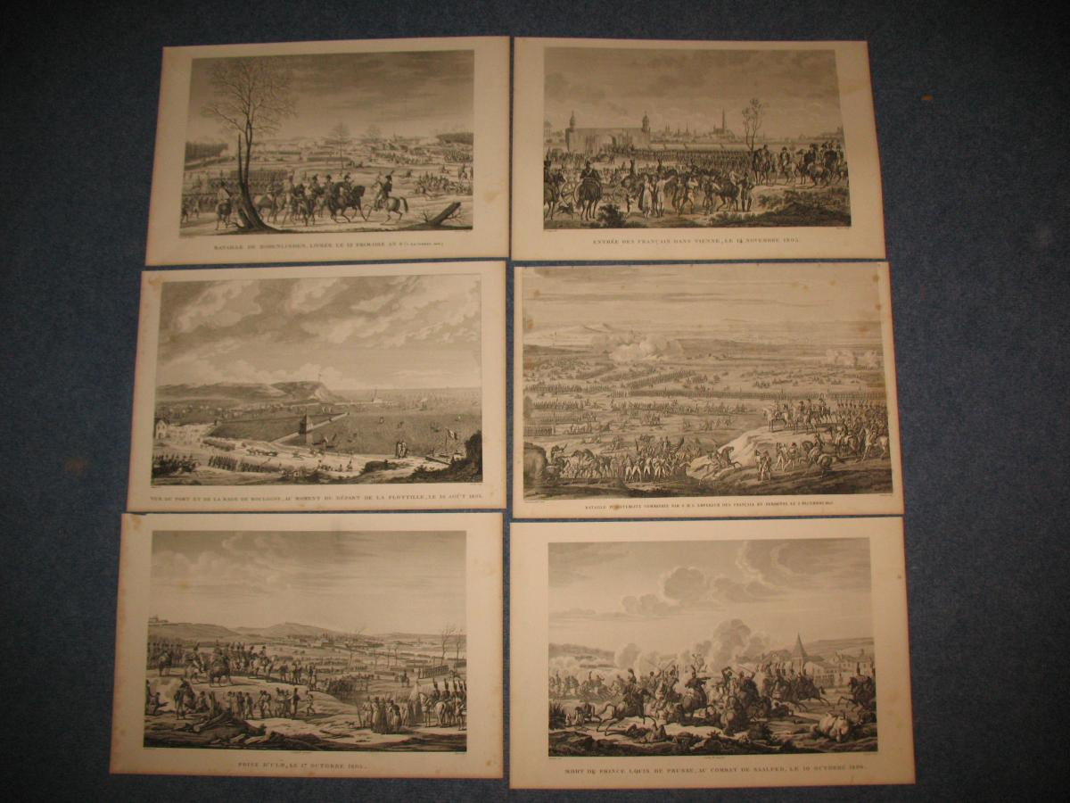 Napoleonic Epic Collection Of 52 Strong Water Engravings