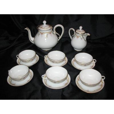 Limoges Tea Set By J. Pouyat
