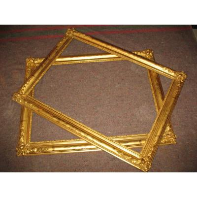 Pair Of Large Louis XV Style Frames - Gold Leaf Transition