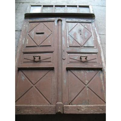 Double Doors And Its Imposing Period Late 18th Century In Walnut Origin Périgord
